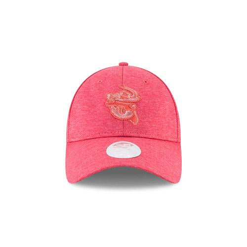Jacksonville Jumbo Shrimp New Era Ladies Coral Shadow Twist 9Twenty