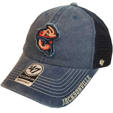Jacksonville Jumbo Shrimp '47 Burnstead Clean Up Cap