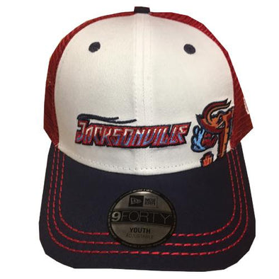 Jacksonville Jumbo Shrimp New Era Youth Logo Play 9Forty
