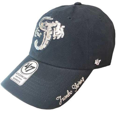 Jacksonville Jumbo Shrimp '47 Ladies Sparkle Navy Clean Up Adjustable Cap
