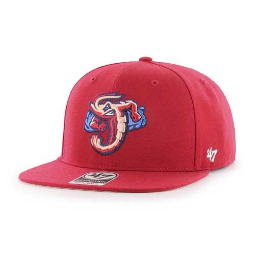 Jacksonville Jumbo Shrimp '47 Red Home Snapback Cap