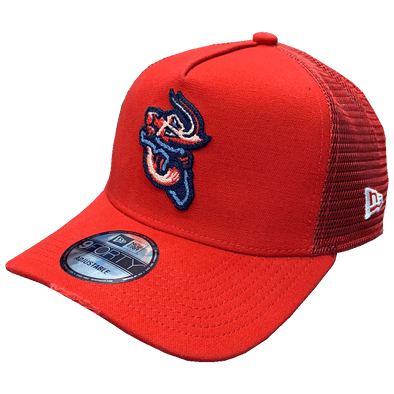 Jacksonville Jumbo Shrimp New Era Trucker Worn A-Frame 9Forty