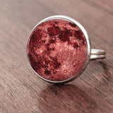 Full Moon Dome Ring Spiritual Warriors Shop Red Silver