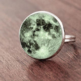 Full Moon Dome Ring Spiritual Warriors Shop Green Silver