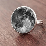 Full Moon Dome Ring Spiritual Warriors Shop Grey Silver