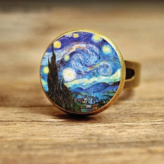 Starry Nightsky Dome Ring Spiritual Warriors Shop Style 1 Gold