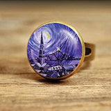 Starry Nightsky Dome Ring Spiritual Warriors Shop