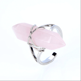 Hexagonal Spiritual Healing Ring Jewelry Spiritual Warriors Shop Rose Quartz