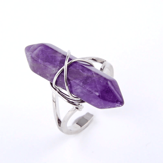 Hexagonal Spiritual Healing Ring Jewelry Spiritual Warriors Shop Amethyst