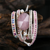 Pink Quartz Bracelet For Attracting Love Jewelry Spiritual Warriors Shop