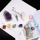 Chakra Healing Tumbled Stones & Pendulum Wooden Box Healing Crystal Spiritual Warriors Shop