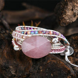 Pink Quartz Bracelet For Attracting Love Jewelry Spiritual Warriors Shop as pic United States