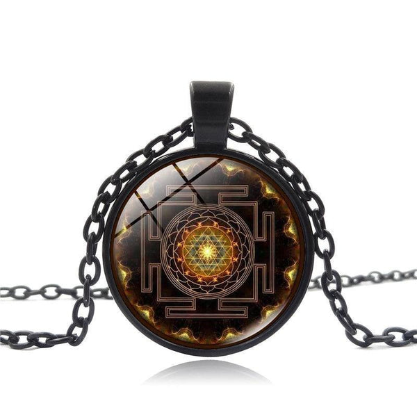 Sri Yantra Power Buddhist Necklace Spiritual Warriors Shop