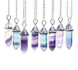 Harmonizing Rainbow Fluorite Necklace Spiritual Warriors Shop