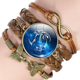 Your Zodiac Sign Leather Bracelet Spiritual Warriors Shop Capricorn