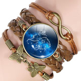 Your Zodiac Sign Leather Bracelet Spiritual Warriors Shop Leo