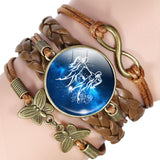 Your Zodiac Sign Leather Bracelet Spiritual Warriors Shop Gemini