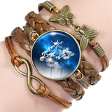 Your Zodiac Sign Leather Bracelet Spiritual Warriors Shop Virgo