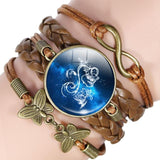 Your Zodiac Sign Leather Bracelet Spiritual Warriors Shop Aquarius
