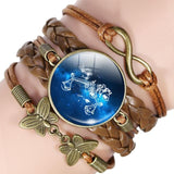 Your Zodiac Sign Leather Bracelet Spiritual Warriors Shop Libra