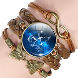 Your Zodiac Sign Leather Bracelet Spiritual Warriors Shop Sagittarius
