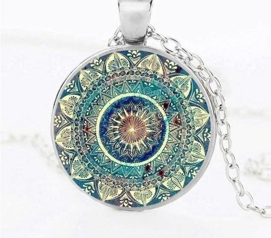 Buddhist Mandala Necklace Spiritual Warriors Shop Silver