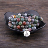 India Agate Calming Mala Spiritual Warriors Shop