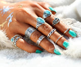 Turquoise Vintage Knuckle Ring Set Spiritual Warriors Shop