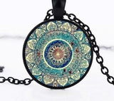 Buddhist Mandala Necklace Spiritual Warriors Shop Black