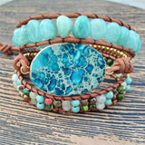 Powerful Amazonite Good Luck Boho Bracelet Spiritual Warriors Shop