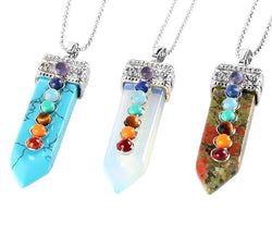 7 Chakra Reiki Natural Crystal Necklace Spiritual Warriors Shop