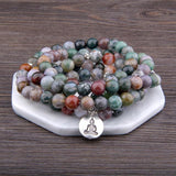 India Agate Calming Mala Spiritual Warriors Shop Default Title
