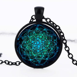 Flower Of Life Dome Necklace Spiritual Warriors Shop Black