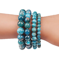 Blue Apatite Bracelet For Creative Problem Solving Jewelry Spiritual Warriors Shop