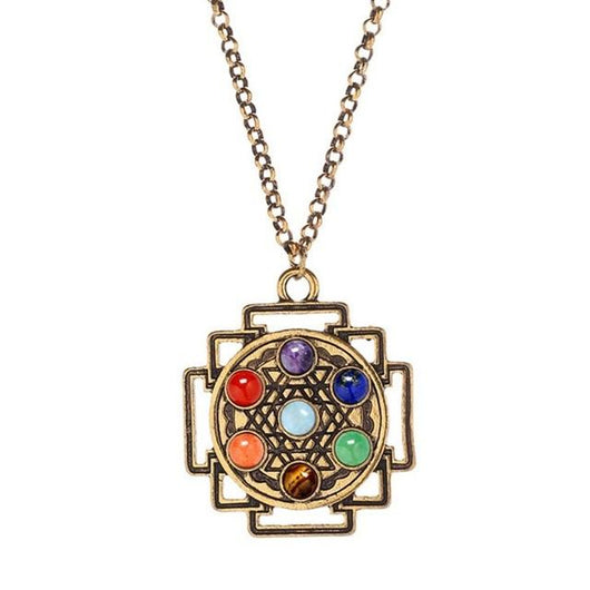 7 Chakra Cleansing Necklace Spiritual Warriors Shop Style 1 Golden
