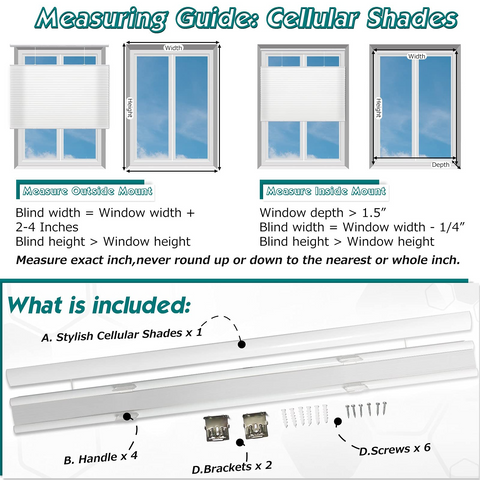 how to measure bottom up top down cellular blinds