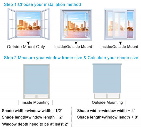 how to measure roller blinds