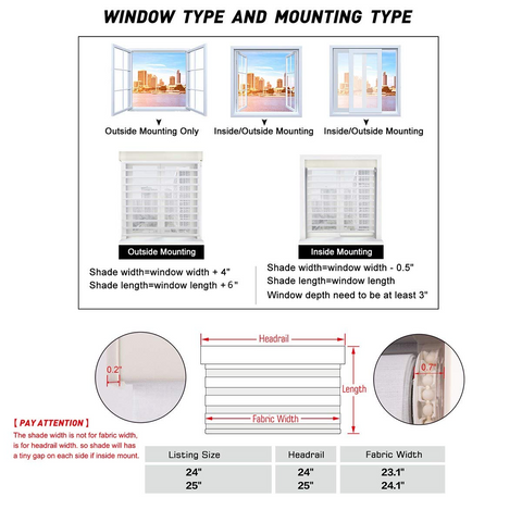 how to measure the shangri-la blinds