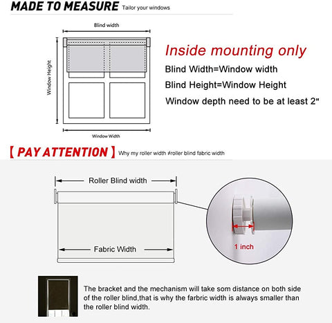 how to measure the no drill blinds