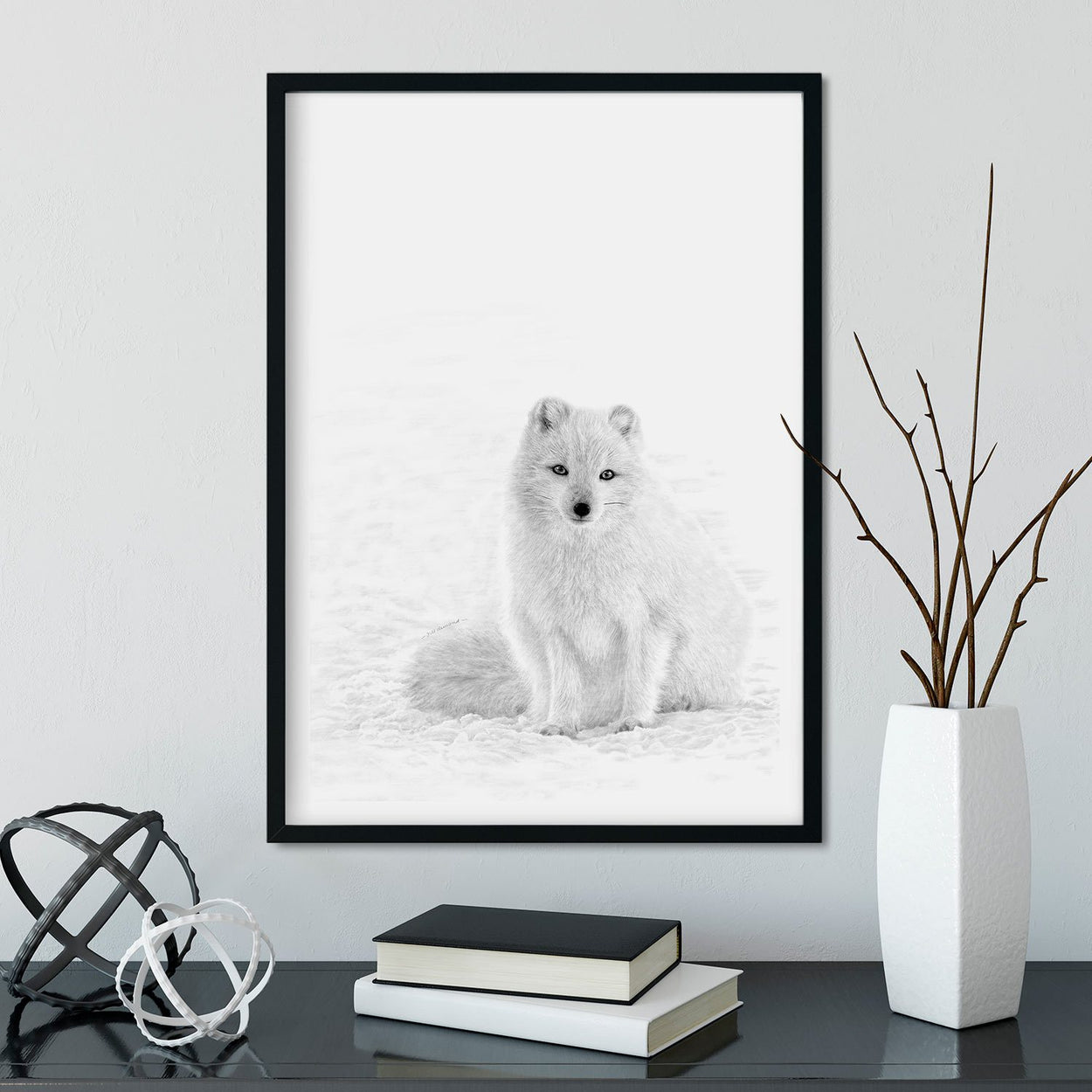 Arctic Fox Wall Art Frame - The Thriving Wild