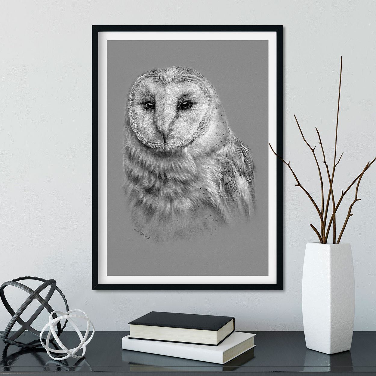 Barn Owl Wall Art Frame - The Thriving Wild