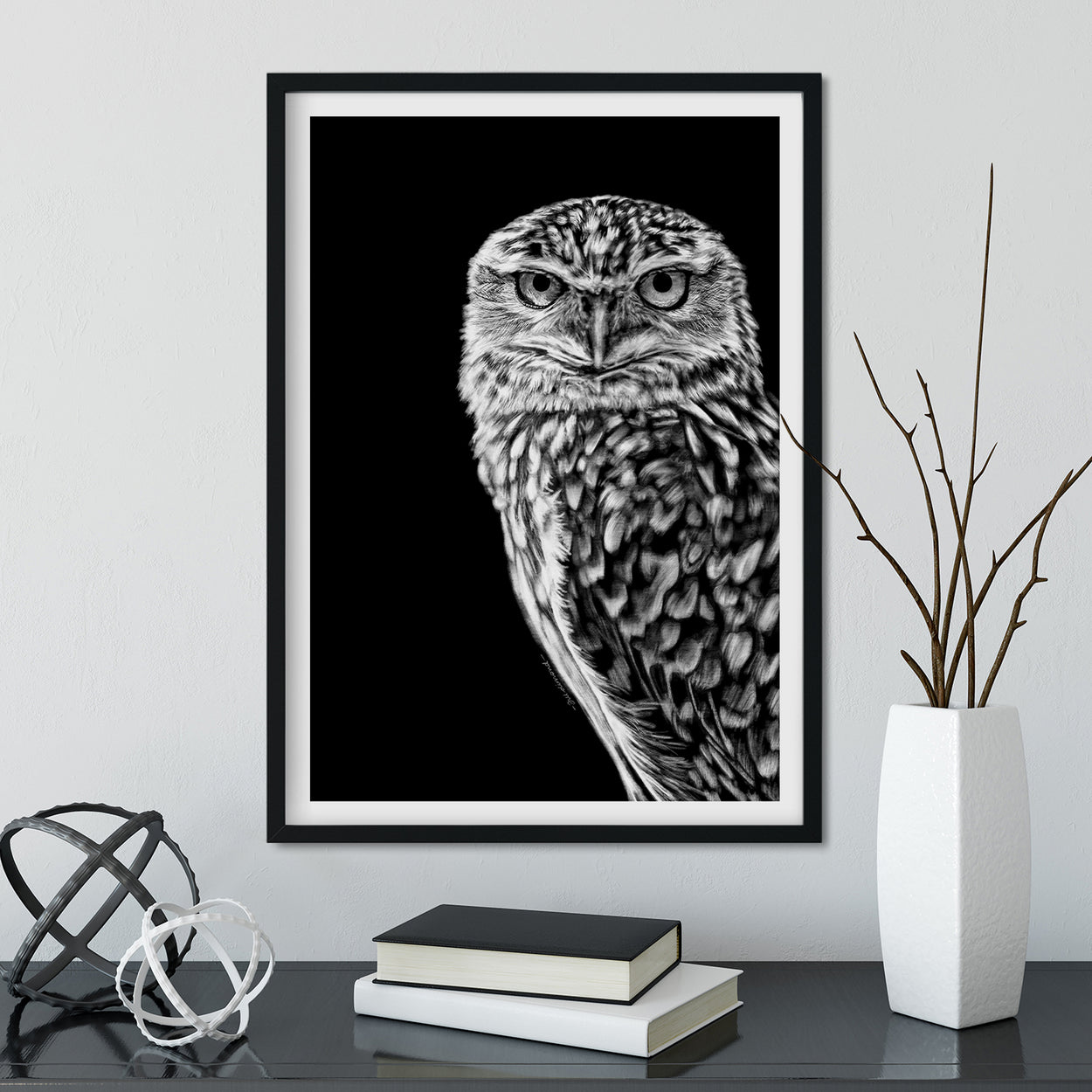 Burrowing Owl Wall Art Framed - The Thriving Wild