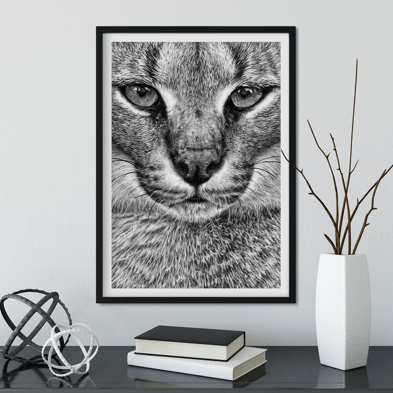 Caracal Framed Wall Art - The Thriving Wild