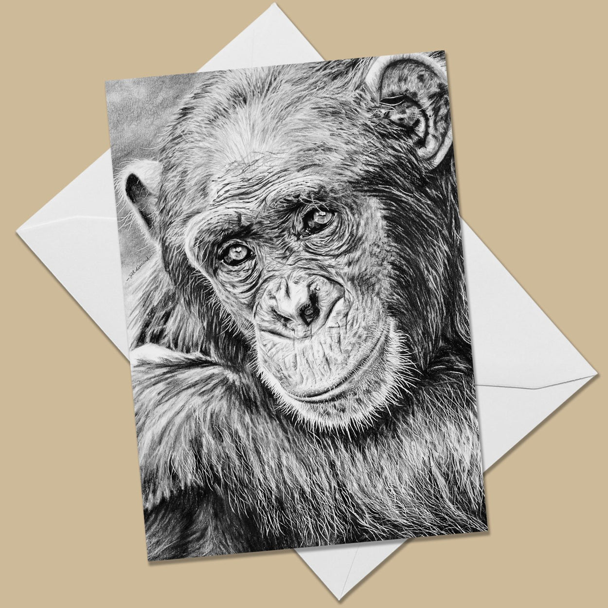 Chimpanzee Greeting Card - The Thriving Wild