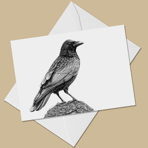 Crow Greeting Card - The Thriving Wild