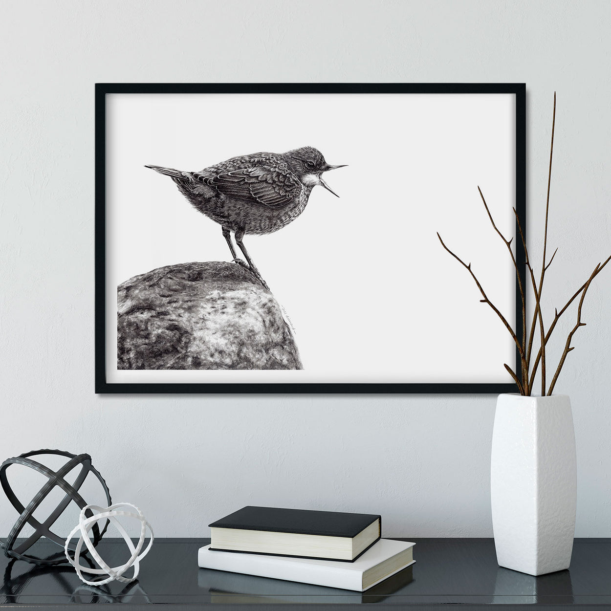Dipper Wall Art Framed - The Thriving Wild