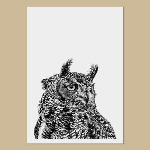 Eagle Owl Art Prints - The Thriving Wild