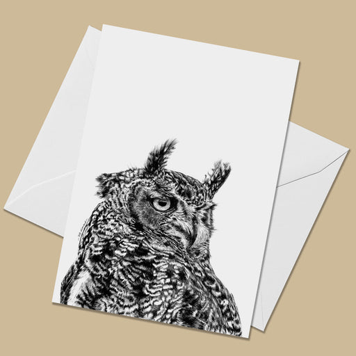 Eagle Owl Greeting Card - The Thriving Wild