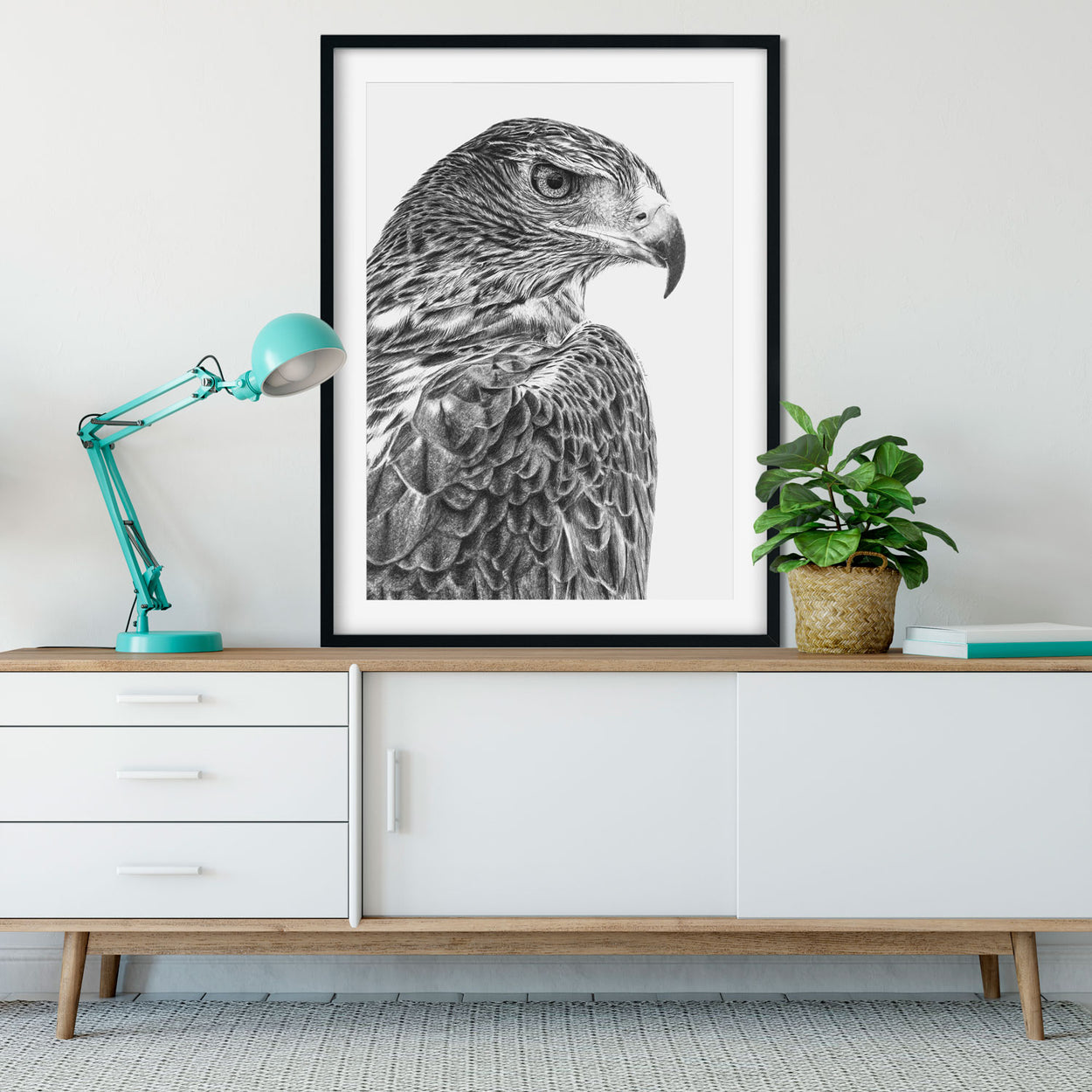 Original Golden Eagle Pencil Drawing