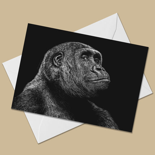 Gorilla Greeting Card - The Thriving Wild